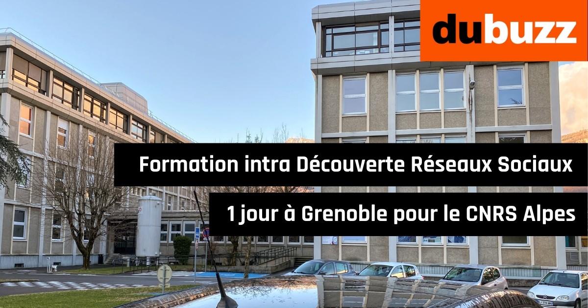 Formation intra Réseaux Sociaux pour le CNRS Grenoble