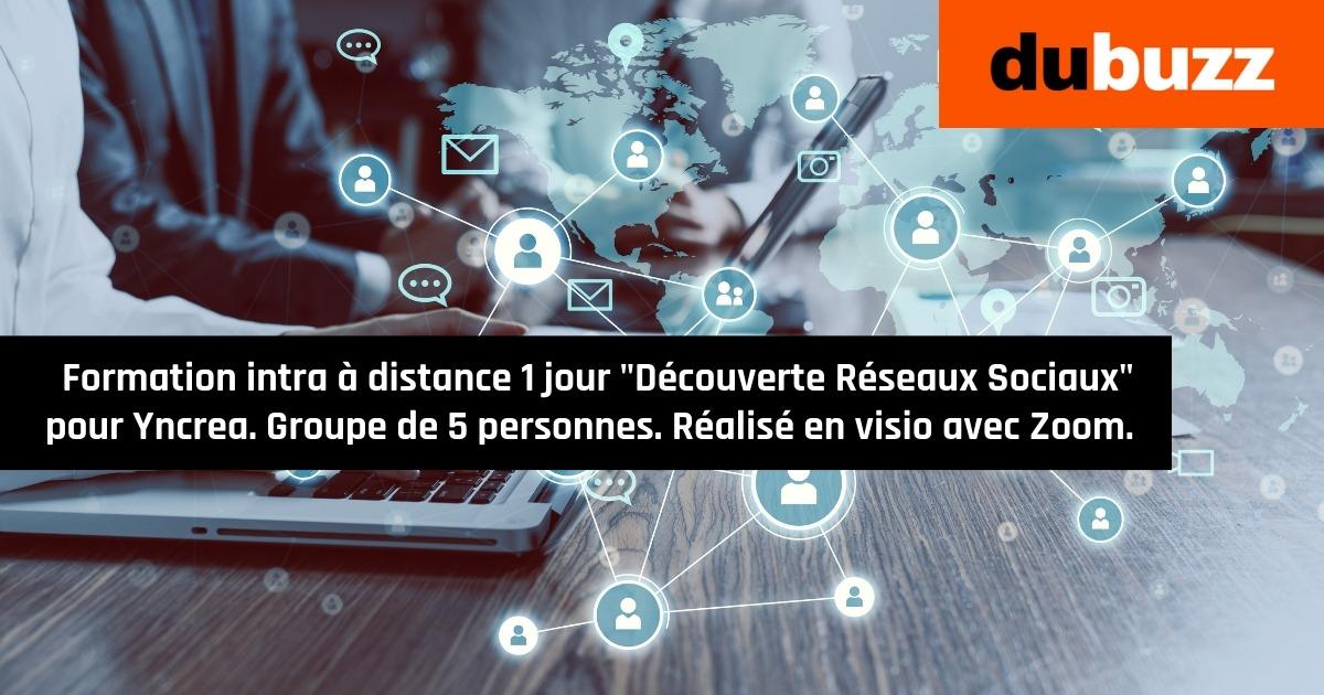 Formation intra à distance «Découverte Réseaux Sociaux» 1 jour pour Yncrea Hauts de France