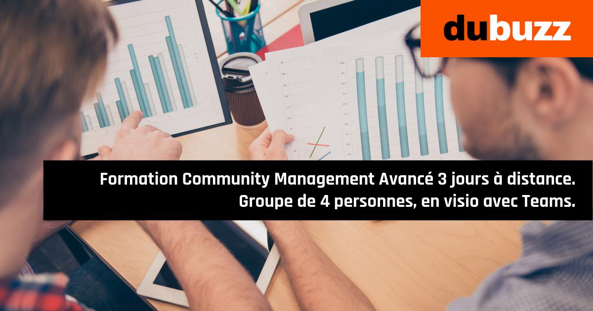 Formation Community Management de 3 jours à distance