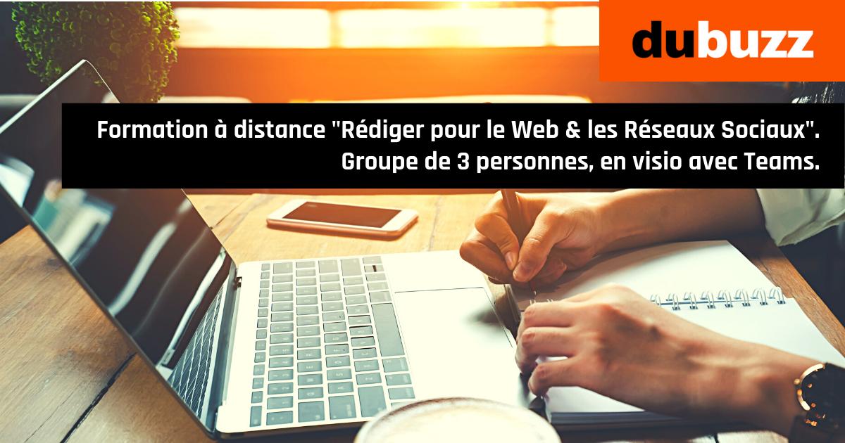 Formation à distance Rédaction Web & Réseaux Sociaux, 2 jours, pour un groupe de 3 participants